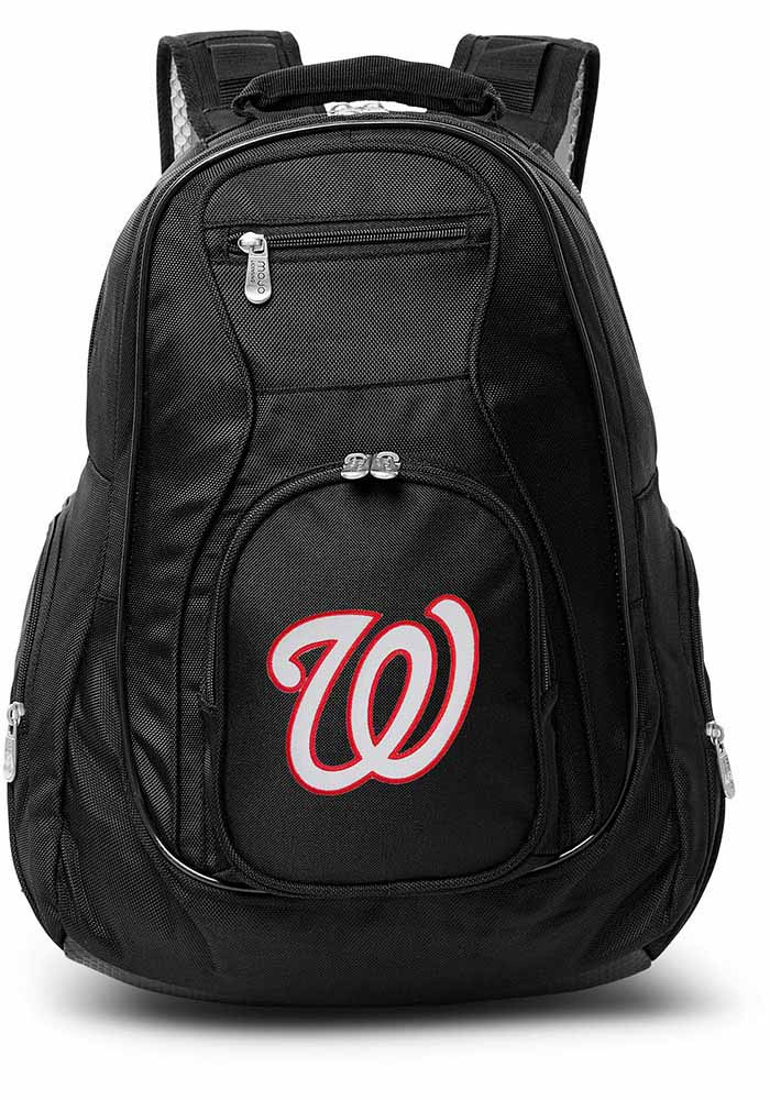 Washington Nationals Black 19 Laptop Backpack - Image 1