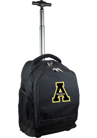 Appalachian State Mountaineers Wheeled Premium Backpack - Black