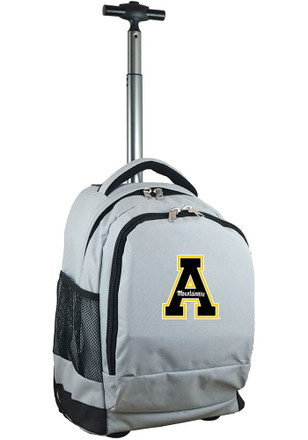 Appalachian State Mountaineers Grey Wheeled Premium Backpack
