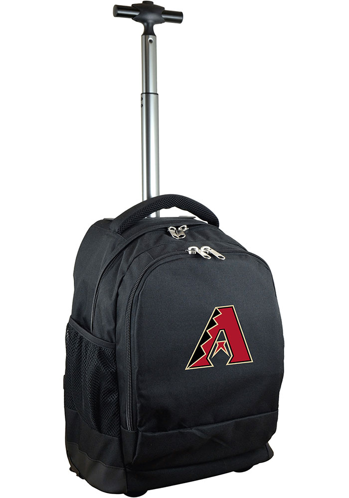 Arizona Diamondbacks Black Wheeled Premium Backpack - Image 1