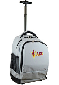 Arizona State Sun Devils Wheeled Premium Backpack - Grey