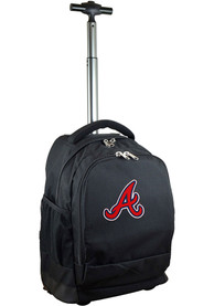 Atlanta Braves Wheeled Premium Backpack - Black
