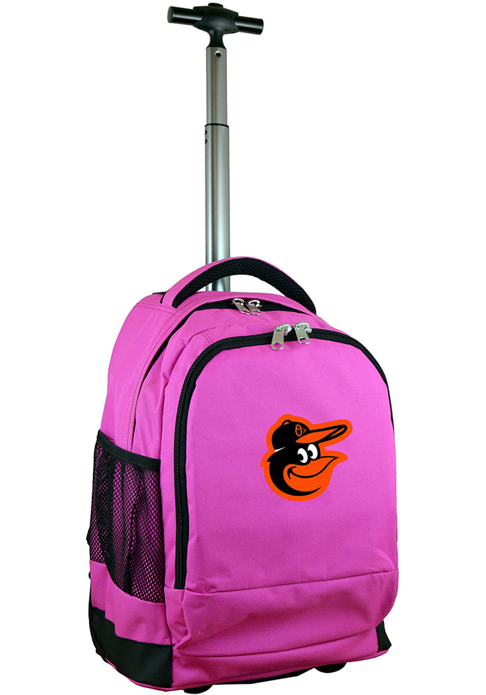 Baltimore Orioles Pink Wheeled Premium Backpack - Image 1