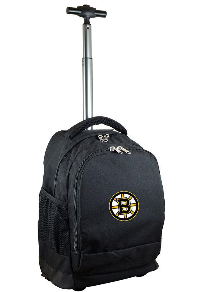 Boston Bruins Black Wheeled Premium Backpack - Image 1