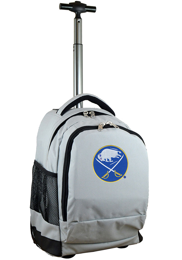 Buffalo Sabres Grey Wheeled Premium Backpack - Image 1