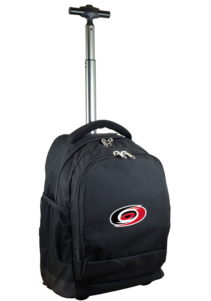 Carolina Hurricanes Black Wheeled Premium Backpack - Image 1