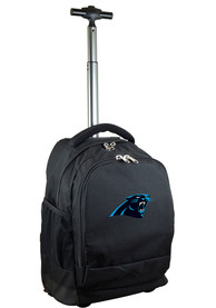 Carolina Panthers Wheeled Premium Backpack - Black