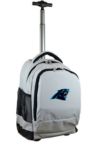 Carolina Panthers Wheeled Premium Backpack - Grey