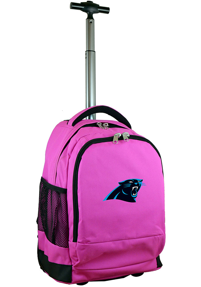 Carolina Panthers Pink Wheeled Premium Backpack - Image 1