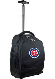 Chicago Cubs Wheeled Premium Backpack - Black