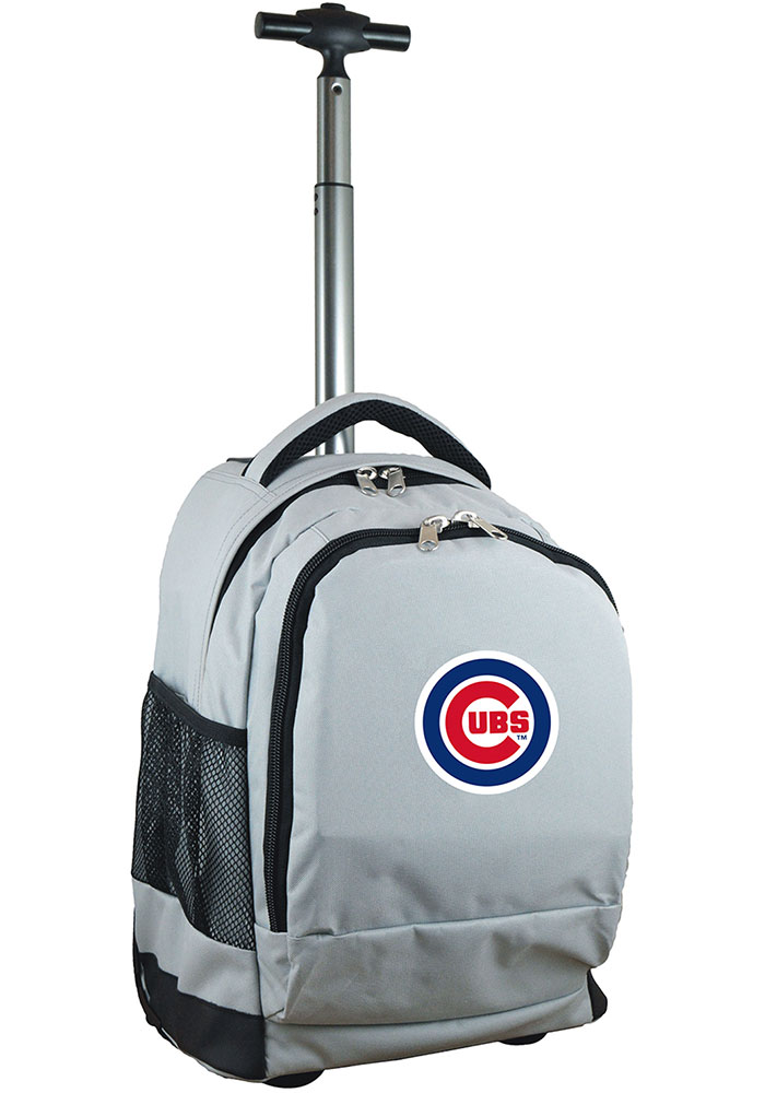 Chicago Cubs Grey Wheeled Premium Backpack - Image 1
