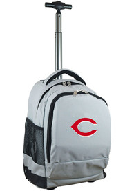 Cincinnati Reds Wheeled Premium Backpack - Grey