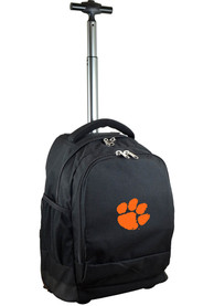 Clemson Tigers Wheeled Premium Backpack - Black