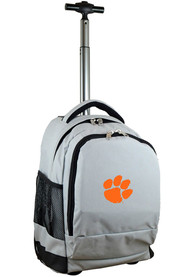 Clemson Tigers Wheeled Premium Backpack - Grey