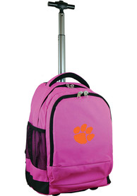 Clemson Tigers Wheeled Premium Backpack - Pink