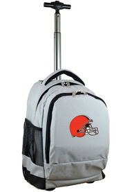 Cleveland Browns Wheeled Premium Backpack - Grey