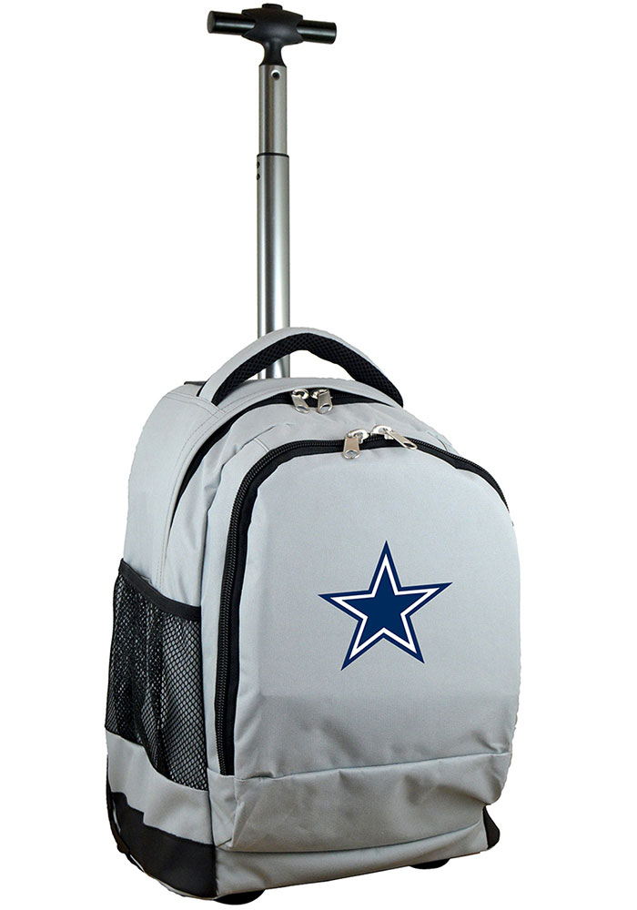 Dallas Cowboys Grey Wheeled Premium Backpack - Image 1