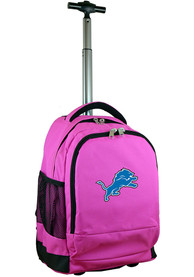 Detroit Lions Wheeled Premium Backpack - Pink