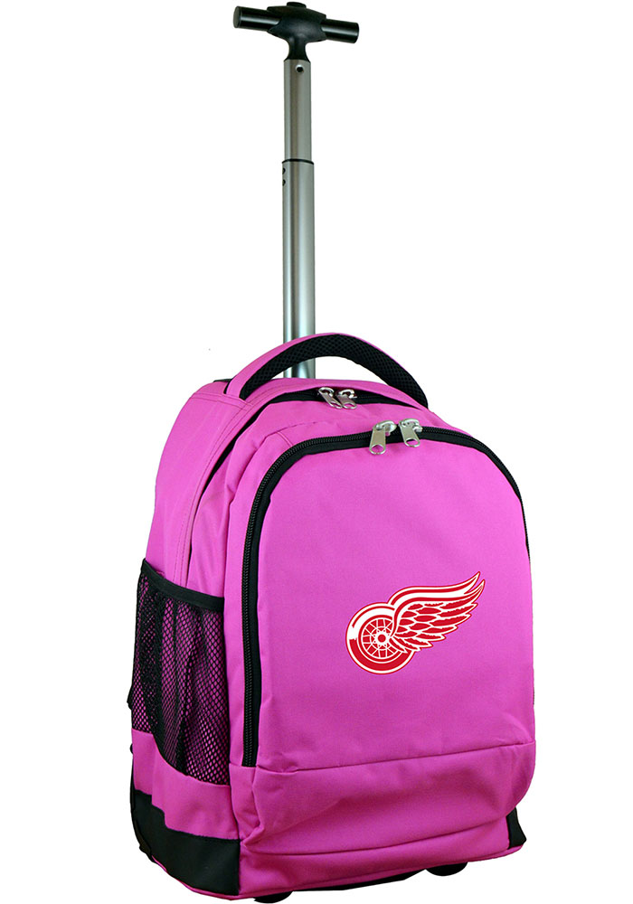 Detroit Red Wings Pink Wheeled Premium Backpack - Image 1