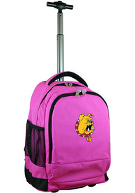 Ferris State Bulldogs Wheeled Premium Backpack - Pink