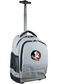Florida State Seminoles Wheeled Premium Backpack - Grey