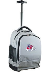 Fresno State Bulldogs Wheeled Premium Backpack - Grey