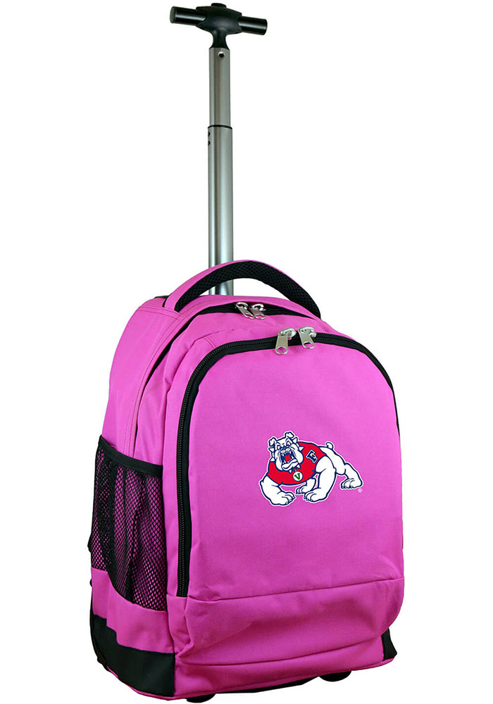 Fresno State Bulldogs Pink Wheeled Premium Backpack - Image 1