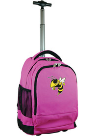 GA Tech Yellow Jackets Wheeled Premium Backpack - Pink