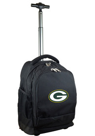 Green Bay Packers Wheeled Premium Backpack - Black