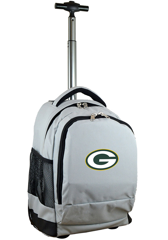 Green Bay Packers Grey Wheeled Premium Backpack - Image 1