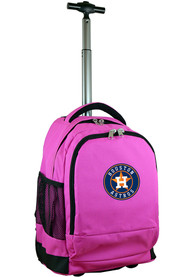 Houston Astros Wheeled Premium Backpack - Pink