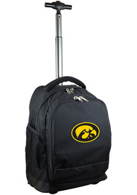 Iowa Hawkeyes Wheeled Premium Backpack - Black