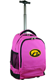 Iowa Hawkeyes Wheeled Premium Backpack - Pink