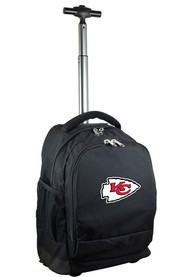 Kansas City Chiefs Wheeled Premium Backpack - Black