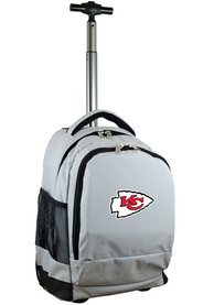 Kansas City Chiefs Wheeled Premium Backpack - Grey