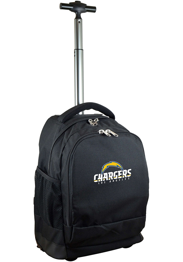 Los Angeles Chargers Black Wheeled Premium Backpack - Image 1