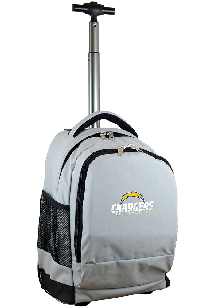 Los Angeles Chargers Grey Wheeled Premium Backpack - Image 1