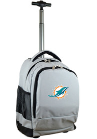 Miami Dolphins Wheeled Premium Backpack - Grey