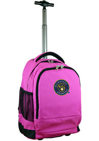 Milwaukee Brewers Wheeled Premium Backpack - Pink