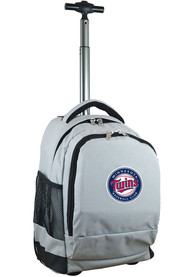 Minnesota Twins Wheeled Premium Backpack - Grey