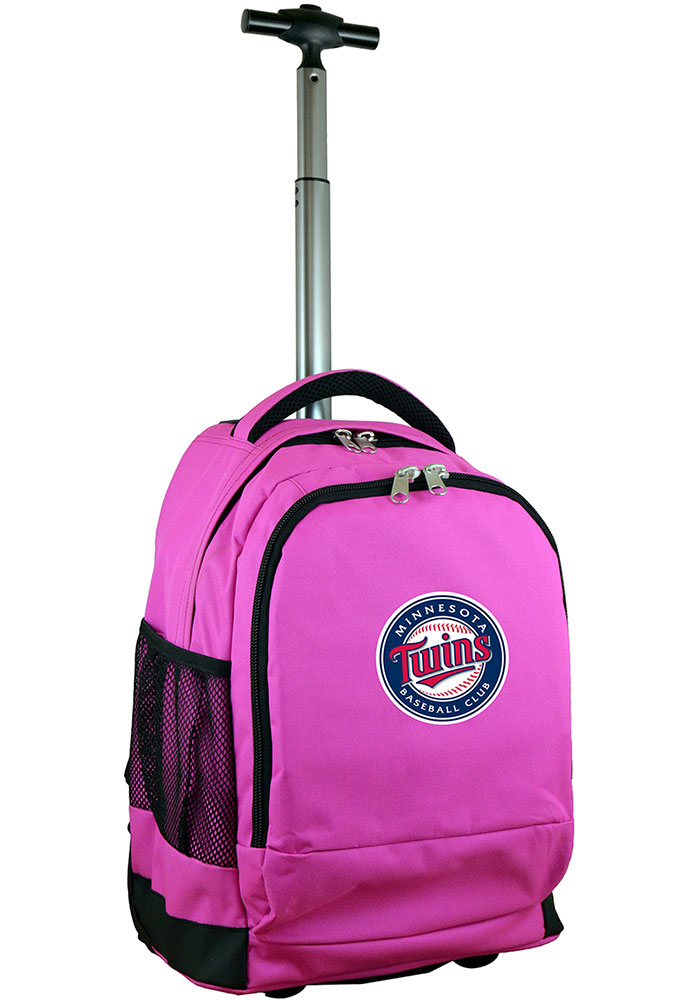Minnesota Twins Pink Wheeled Premium Backpack - Image 1