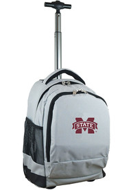 Mississippi State Bulldogs Wheeled Premium Backpack - Grey