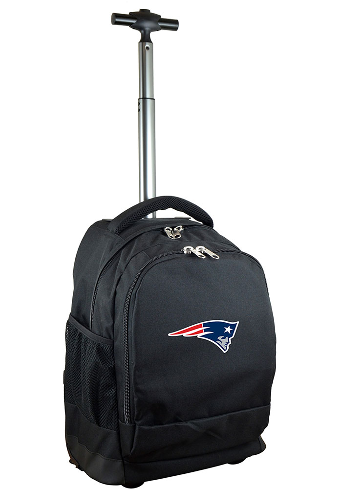 New England Patriots Black Wheeled Premium Backpack - Image 1