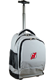 New Jersey Devils Wheeled Premium Backpack - Grey
