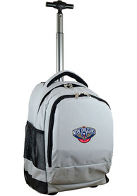 New Orleans Pelicans Wheeled Premium Backpack - Grey