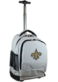 New Orleans Saints Wheeled Premium Backpack - Grey