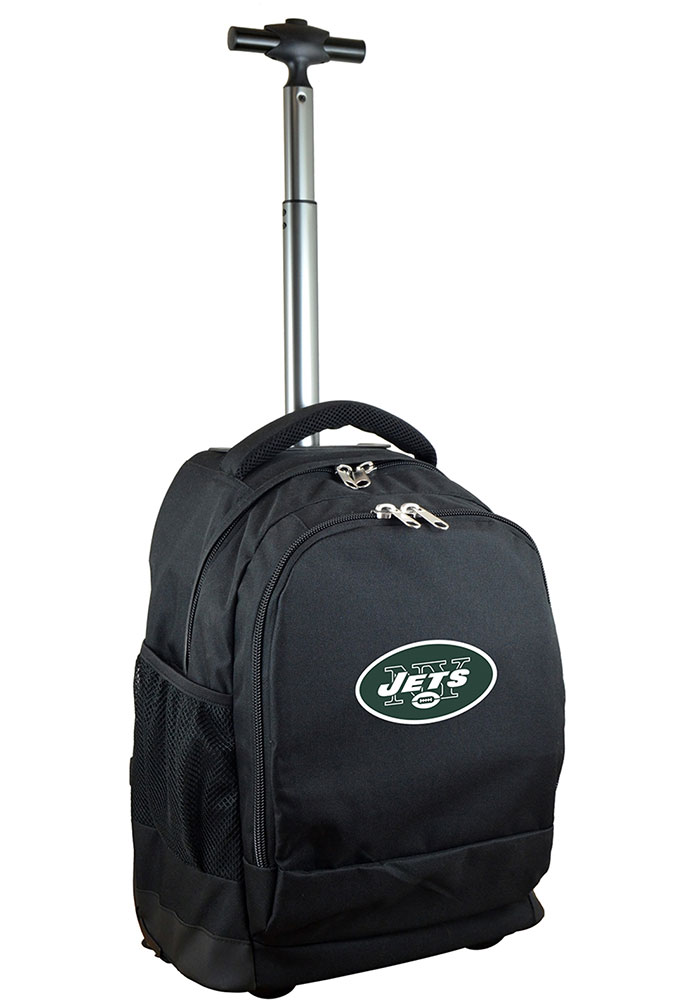 New York Jets Black Wheeled Premium Backpack - Image 1
