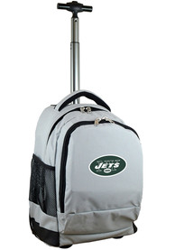 New York Jets Wheeled Premium Backpack - Grey