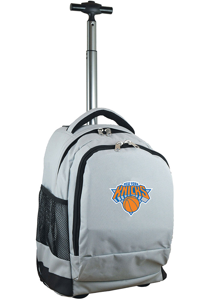 New York Knicks Grey Wheeled Premium Backpack - Image 1