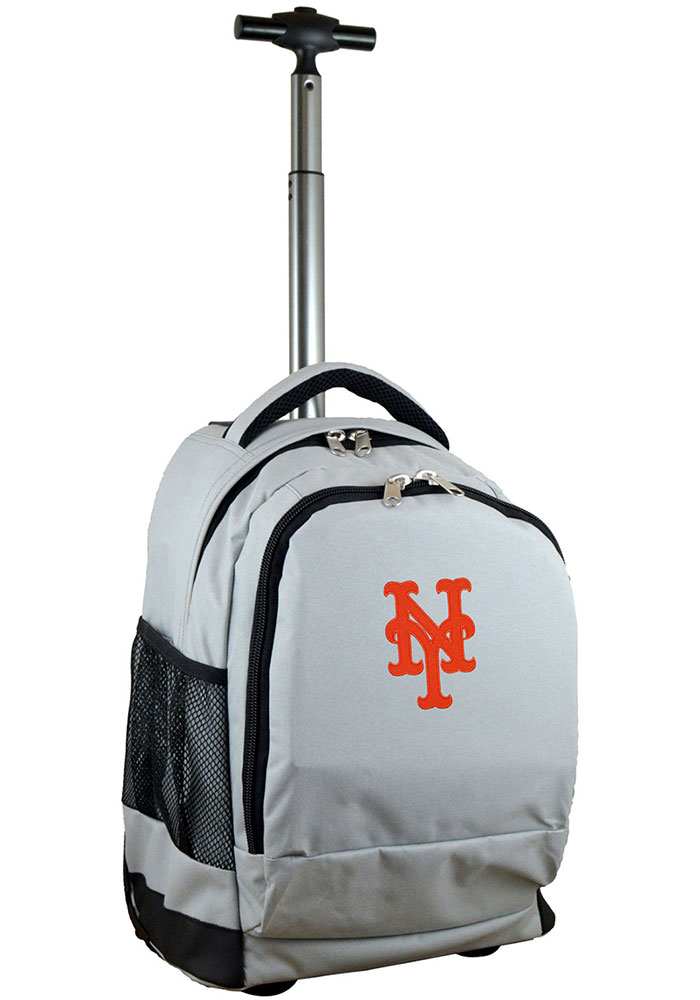 New York Mets Grey Wheeled Premium Backpack - Image 1